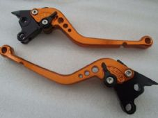 Ducati 748/750SS (99-02), CNC levers long orange/black adjusters, DB80/DC80